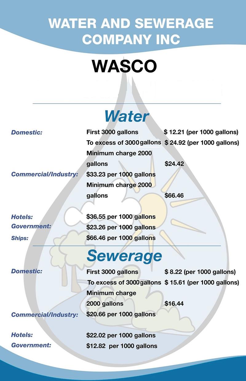 WASCO Tariff Rates